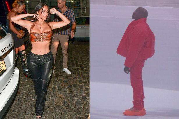 Kim Kardashian attends Kanye West's  album event with their kids & sister Khloe to support him despite divorce (Photos)
