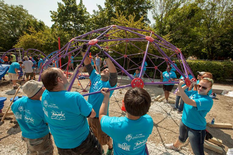 Let's Play Initiative from Dr Pepper Snapple Group - helping to build playgrounds and provide sporting equipment in partnership with KaBOOM! and Good Sports