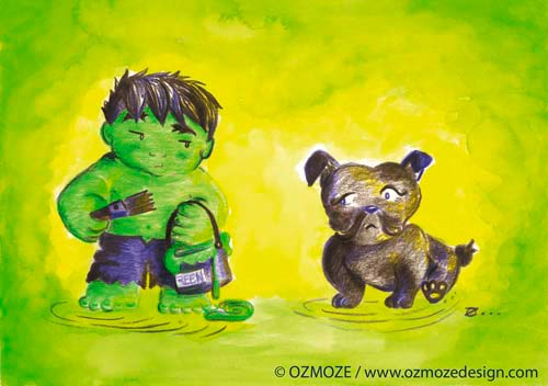 Hulk and Dog