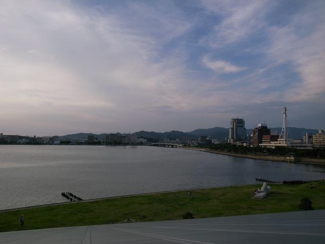 島根県立美術館から夕日宍道湖