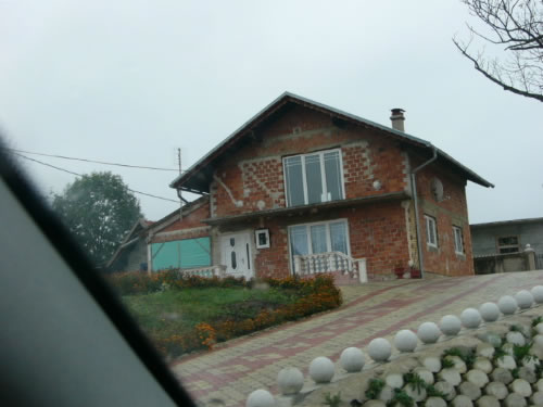 Repaired house not yet finished  Bihac suffered the destruction of many buildings during the '90s Bosnian War.