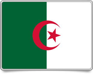 Algerian framed flag icons with box shadow