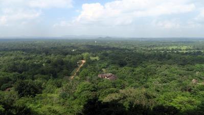 The old city from Sigiriya