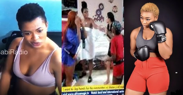 """BBNaija 2021: """"i go slap that your bleaching face"""" - Liquorose Threatens To Slap Beatrice And Angel For Gossiping About Her [Video]"""