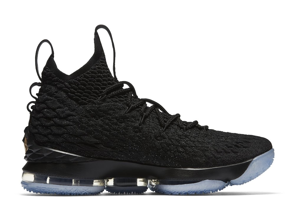 buy online bd7ef 20c53 Nike LeBron 15 – Black and Metallic Gold – Release Date ...
