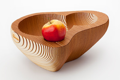 Cardboard Fruitbowl by SEMdesign