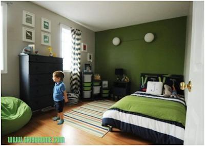 kamar anak hijau alam