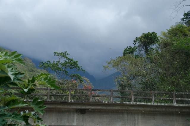 Pont sur le Rio Coroico, au nord de Coroico à 1006 m d'alt. (Yungas, Bolivie), 17 octobre 2012. Photo : C. Basset