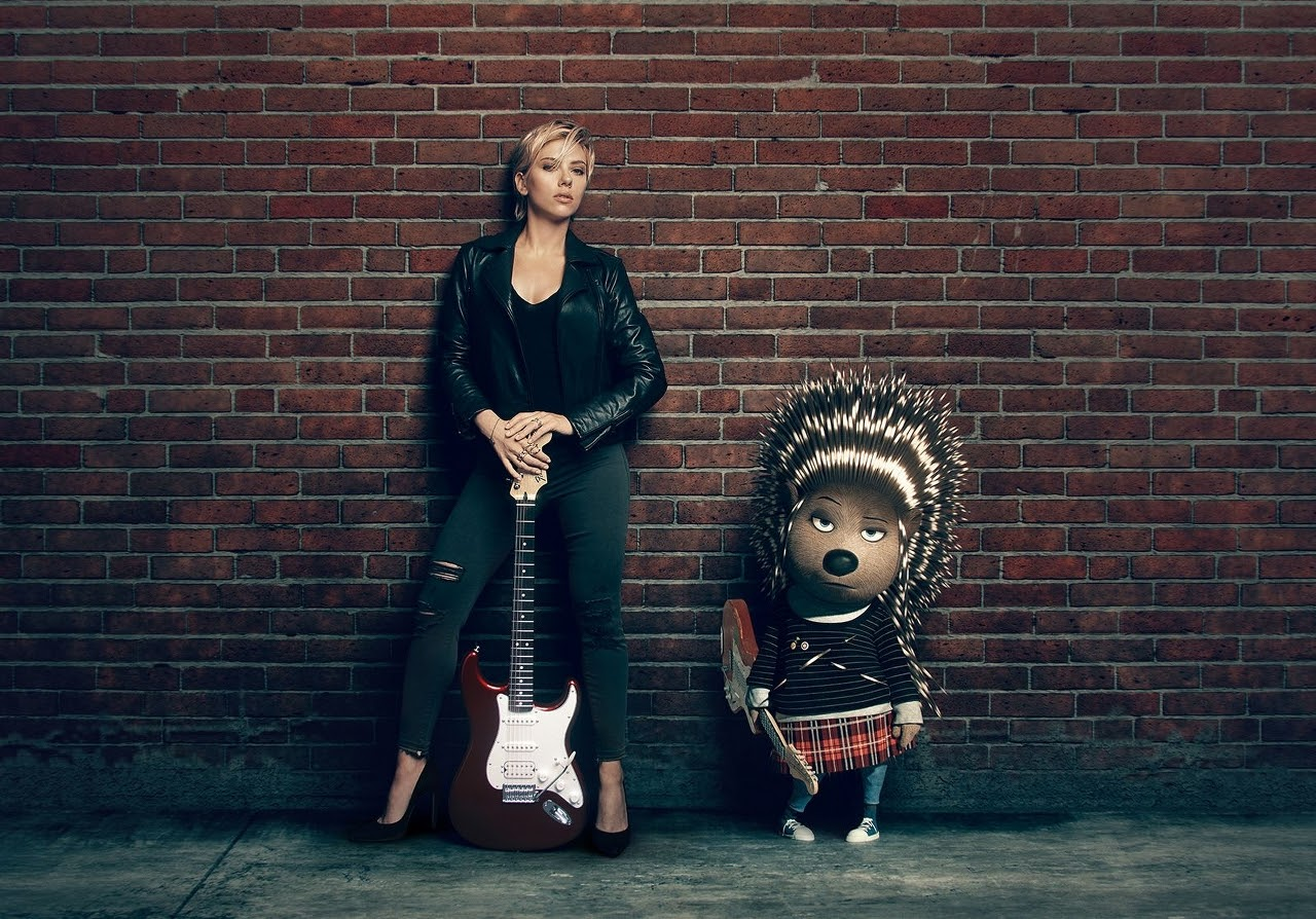 Scarlett Johansson and her SING character, Ash. (Photo courtesy of Illumination Entertainment and Universal Pictures).