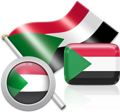 Sudanese flag icons pictures collection