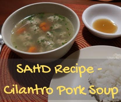 Cilantro Pork soup