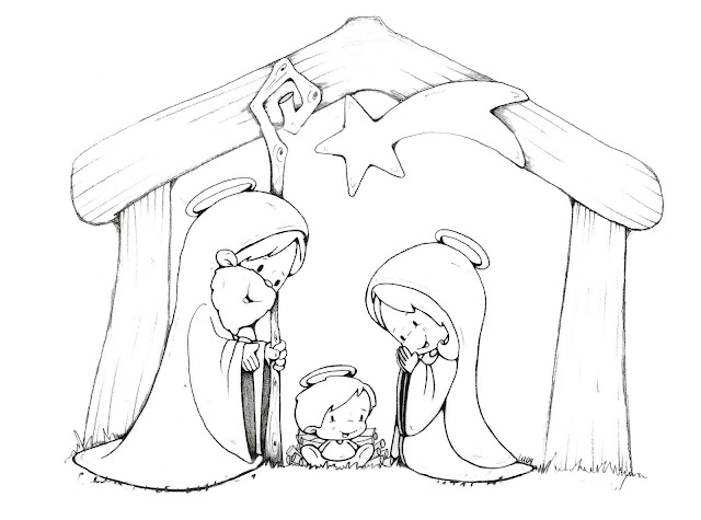 Imagenes De Belenes Para Imprimir.Dibujos De Belenes Y Reyes Magos Para Colorear