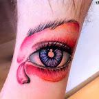 blue pink - Eye Tattoo