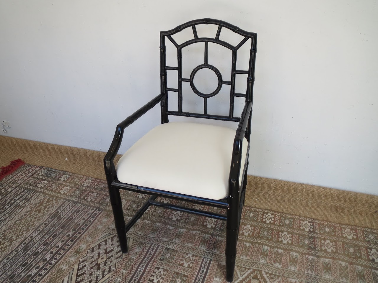 Black Lacquered Armchair