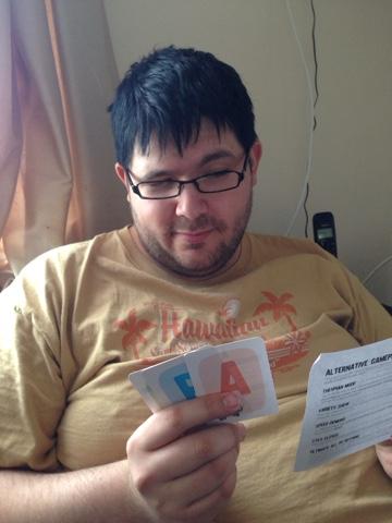 Ryan Playing Randomise Card Game