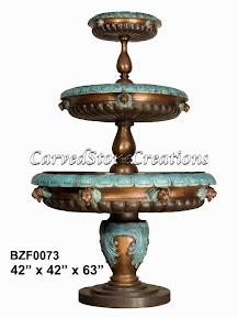 Bronze, Fountain, Tiered