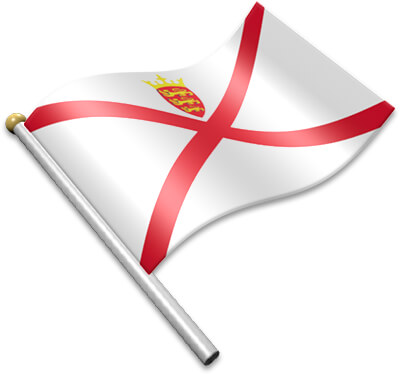 The Channel Island flag on a flagpole clipart image