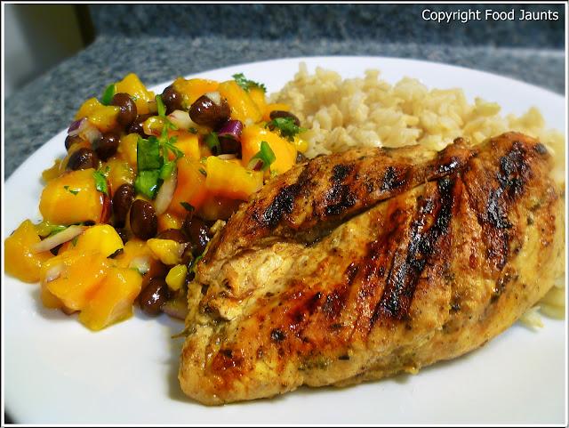 Island Chicken with Mango Black Bean Salsa