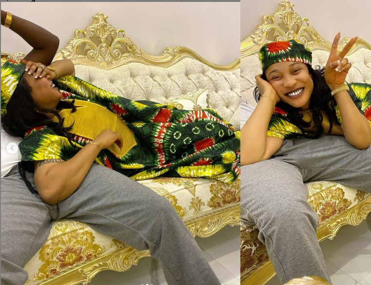 Tonto Dikeh shares loved-up photos with her man Prince Kpokpogri