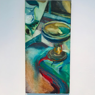 Signed Expressionist Oil Still Life