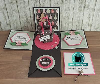 Geschenkbox Explosionsbox Überraschungsbox Einkaufsgutschein Geldgeschenk Shopping Geschenkkarte Gutschein