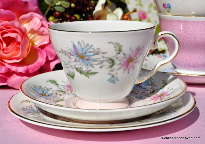 Royal Grafton Summer's Day Hand Painted Teacup Trio