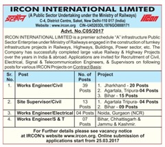 IRCON International Limited Careers 2017 www.indgovtjobs.in