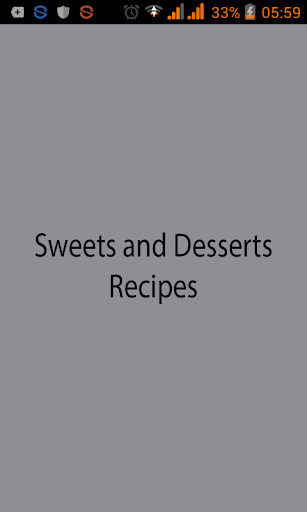 Sweets and Desserts Recipes