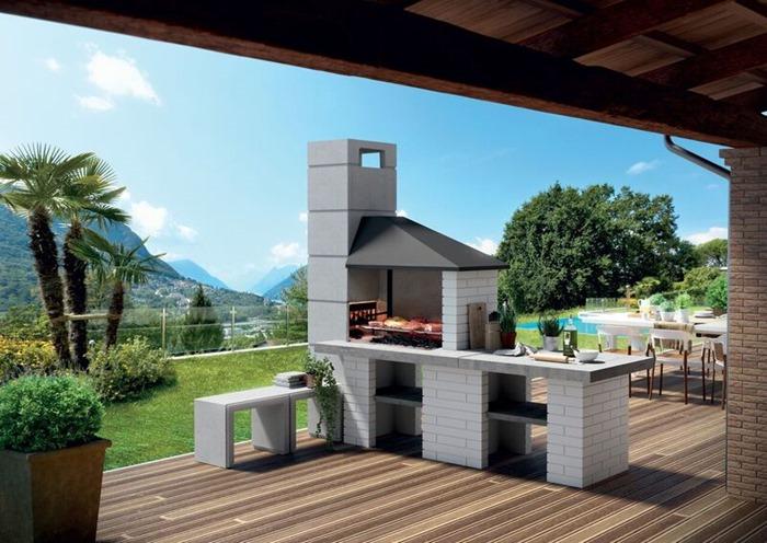 Simona elle soluzioni per cucinare all aperto barbecue e - Cucine all aperto ...