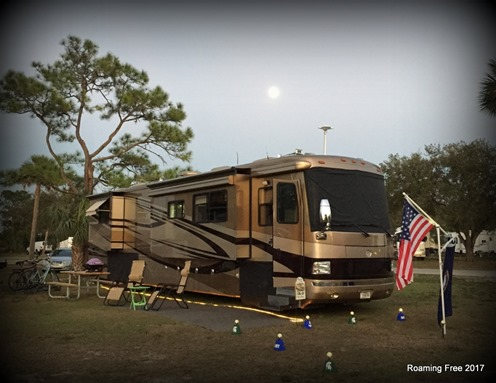 Moon rising over the RV