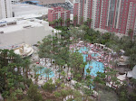 The quite-busy Flamingo pool