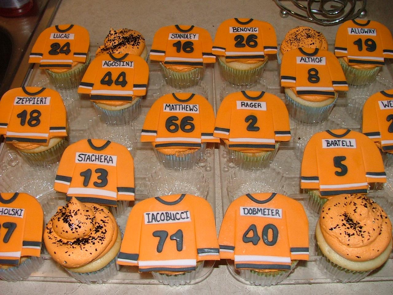 Sugar Fairy Treats Sweets Hockey Jersey Cupcakes