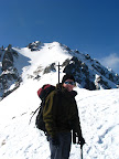spacer bez nart na szczyt