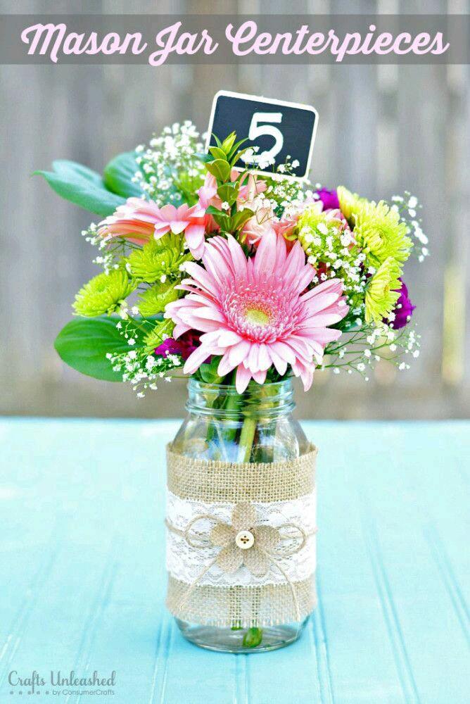 Wedding Shower Gift For 50 Year Old : mas y mas manualidades: 15 hermosos centros de mesa usando frascos ...
