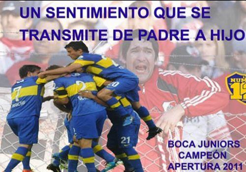 Afiches Boca campeon River en la B - los compadres siguen sin verla