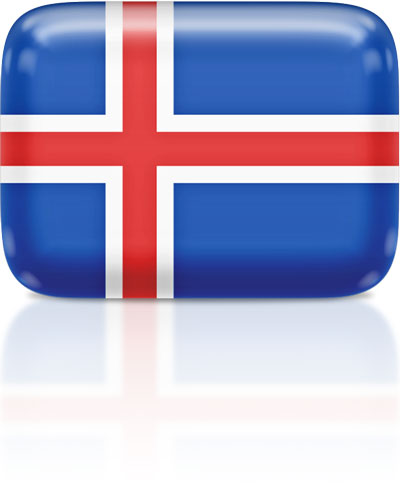 Icelandic flag clipart rectangular