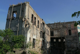 Photo: One of the battle scars around Mostar , reminder of the wars people have seen