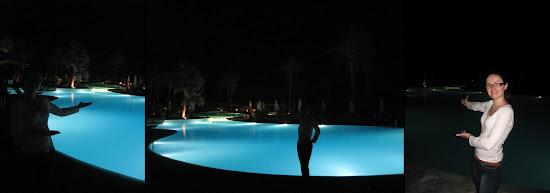 grecotel kos imperial - baseny nocą