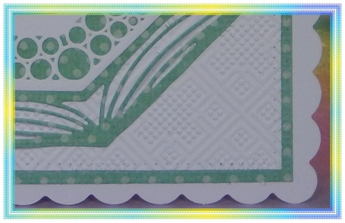 207 Go Green close up embossing