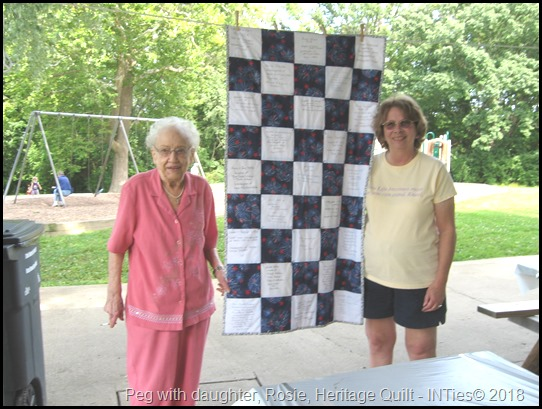 Peg Stull and Rosie Walters, Quilt winner