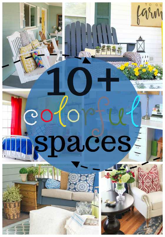 Over 10 Colorful Spaces at GingerSnapCrafts.com #forthehome #color #DIY