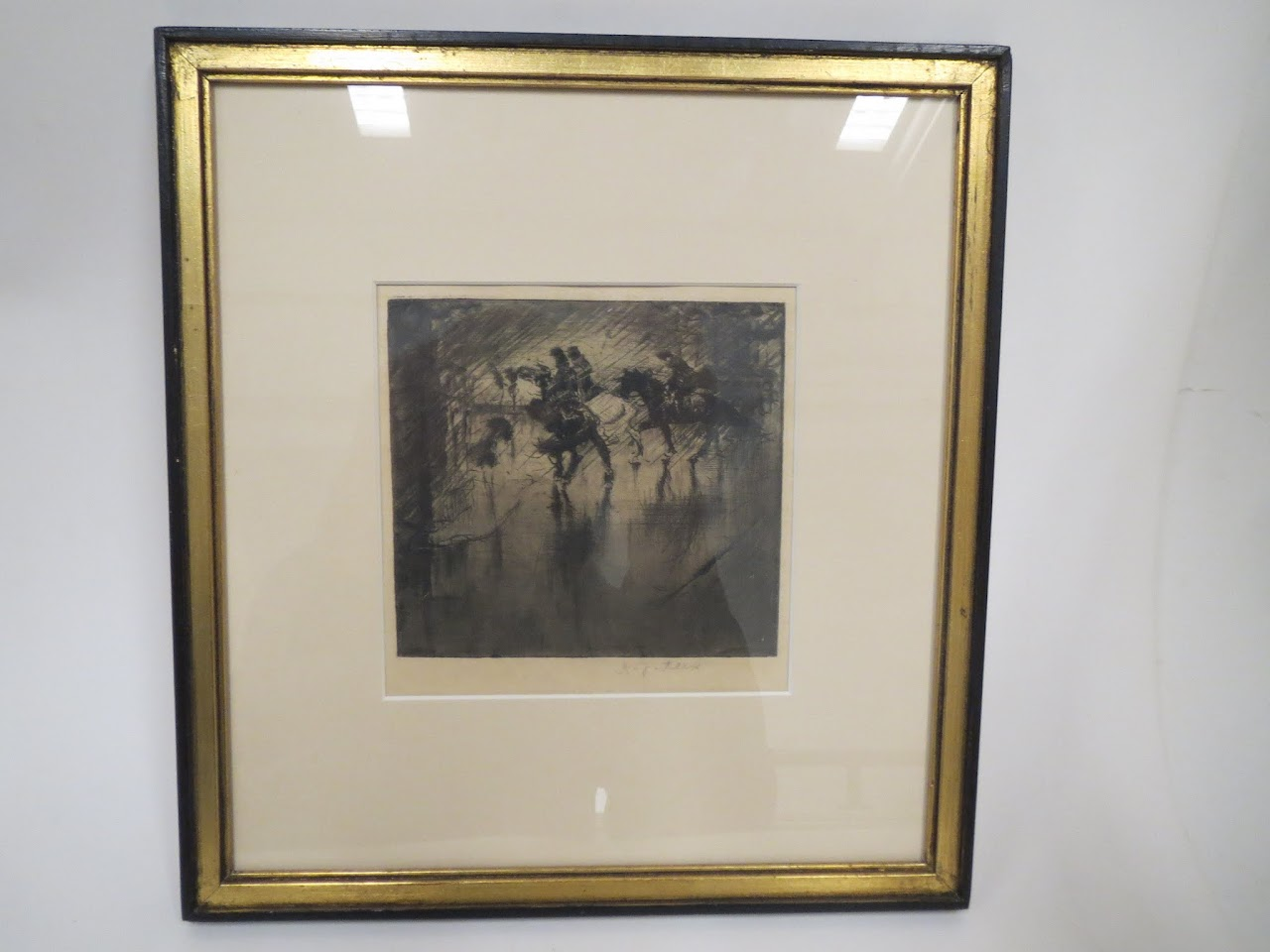 Signed Etching