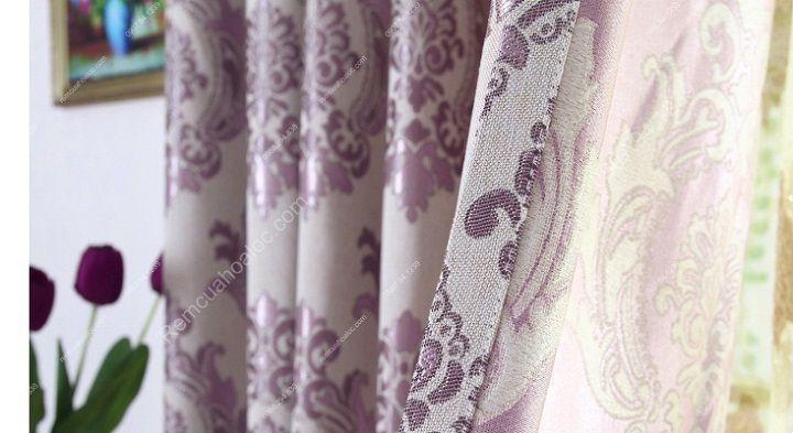 Rèm vải đẹp hà nội họa tiết đơn giản 6