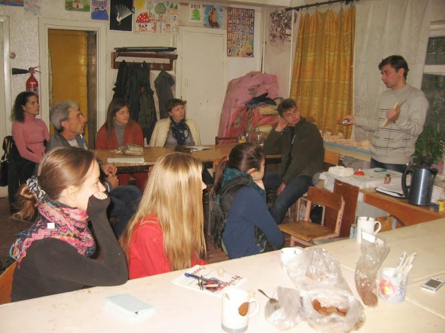 первое занятие в группе КС9 по обучению этике и керамике