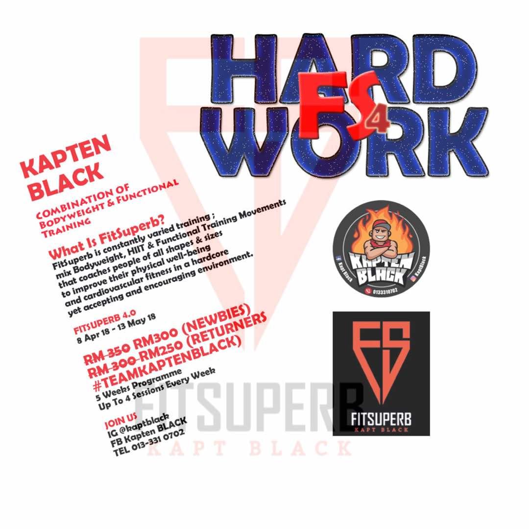 Fit Superb 4.0 - Workout Secara Berkesan Dan Konsisten Bersama Kapten Black