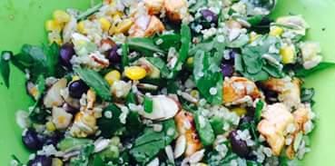 Spinach qinoua salad recipe
