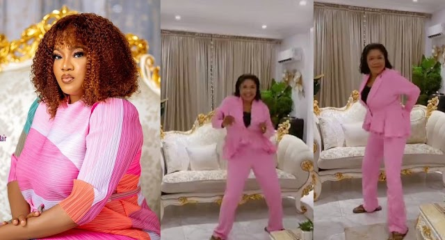 'You're Dancing Like Bobrisky'— Fans React As Toyin Abraham Shows Off Her Dancing Skills [Video]
