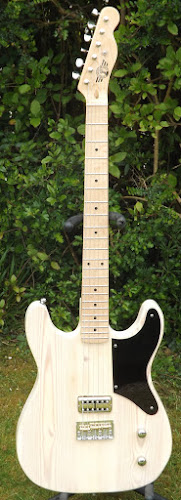 Butsermountainmusic white twin cutaway esquire single pickup electric guitar BMM