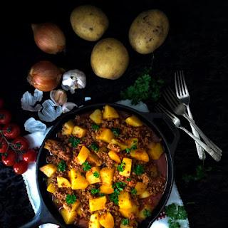 Spicy Ground Beef Stew.