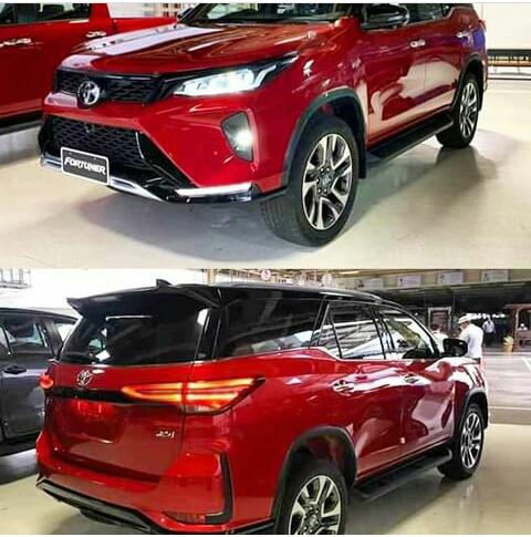 Toyota fortuner warna merah